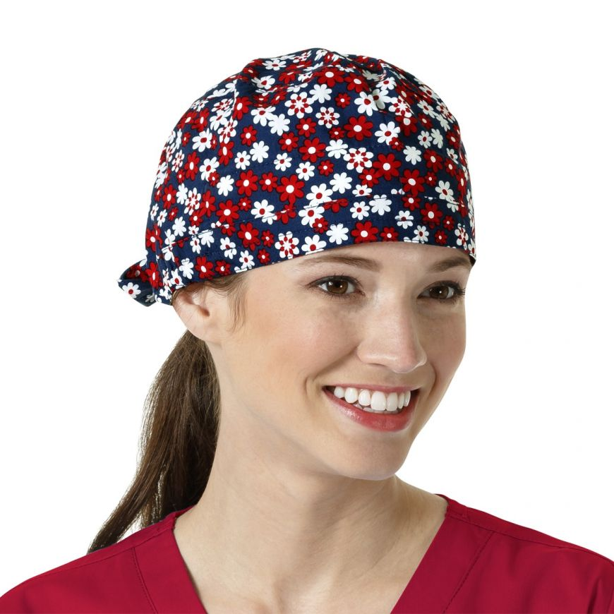 Fourth of Floral Scrub Cap 3e720ecd9df