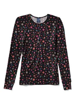Floral Frenzy Ditsy Silky Print Tee