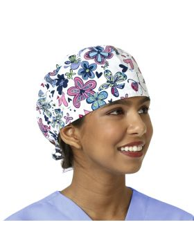 Butterfly Bliss Navy Scrub Cap