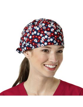 Fourth of Floral Scrub Cap
