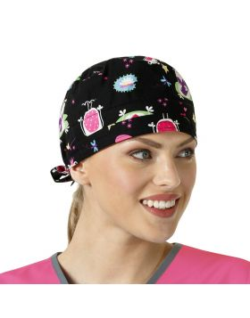 Princess Frog Black Scrub Cap
