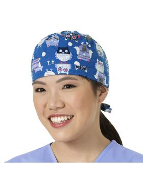 Whoot Toot Royal Scrub Cap